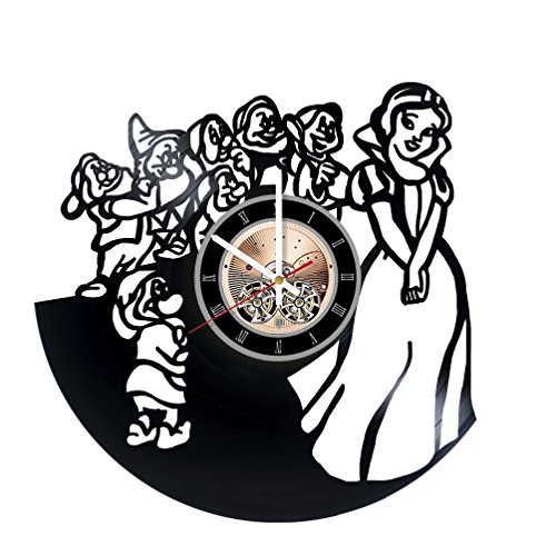 Once Upon A Time Snow Queen Costume (Snow White Beautiful Story Vinyl Record Wall Clock - Kids room wall decor - Gift ideas for baby, children - Amazing Unique Art Design)