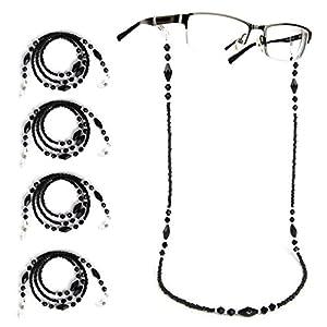 Bear Motion Multipack Eyewear Cord,Eyeglass Chains Neck String Glasses Holder | Strap | Chain | Retainer | Cord | Lanyard (Back - 5 pk)