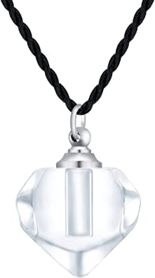 Hourglass Glass Cremation Urn Necklace for Ashes Keepsake Memorial Urn Jewelry Cremation Jewelry
