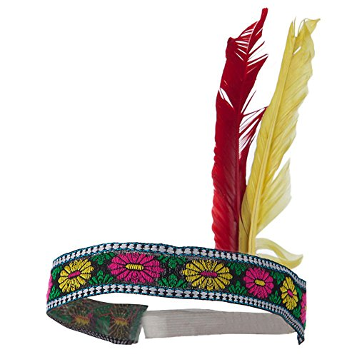 [Native American Indian Costume Headband w/ Feathers] (Male Indian Costumes)