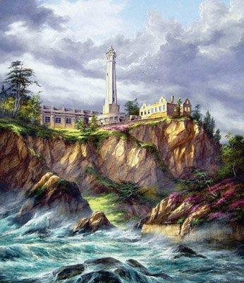 Rudi Reichardt Alcatraz Lighthouse 550Pc Jigsaw Puzzle