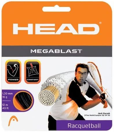 Head Megablast Racquetball String Set, 17g-black