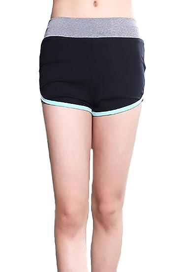 Pantalones Cortos Mujer De Secado Rápido Transpirable Casual Yoga Deporte  Running Fitness Ropa En Oferta Moda Entrenamiento Shorts Pantalon Corto  ... d6ed343b79ccf