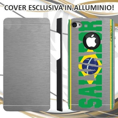CUSTODIA COVER CASE SKILINE SALVADOR PER IPHONE 4S ALLUMINIO TRASPARENTE
