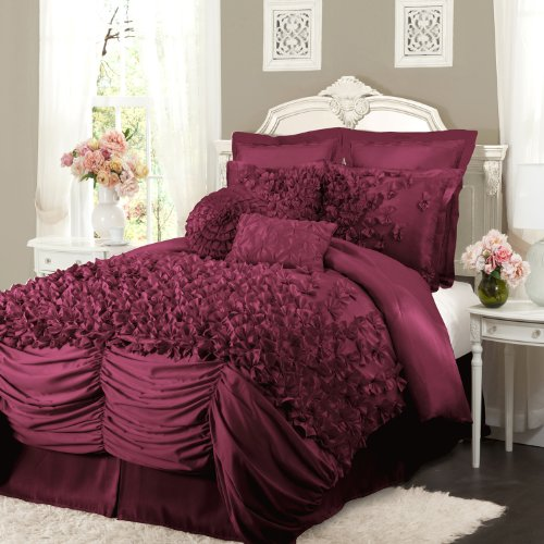Lush Decor Lucia 4-Piece Comforter Set, California King, (Lucia Comforter Set)
