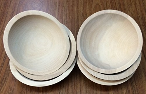 Amazoncom Set Of 6 7 Inch Unfinished Solid Beech Wood Bowls