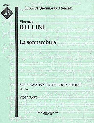 La sonnambula (Act I: Cavatina: Tutto e gioia, tutto e festa): Viola part (Qty 4) ()