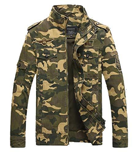 Stile Outwear Camuffamento Casuale Del Basamento Degli Collare Del Cappotto Uomini 1 Esercito Gocgt wSRqUEPw