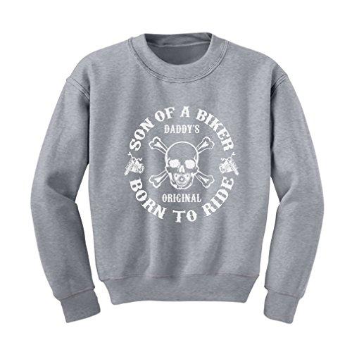 TeeStars Of A Biker Kids Sweatshirt X-Large Grey (Biker Kids Sweatshirt)