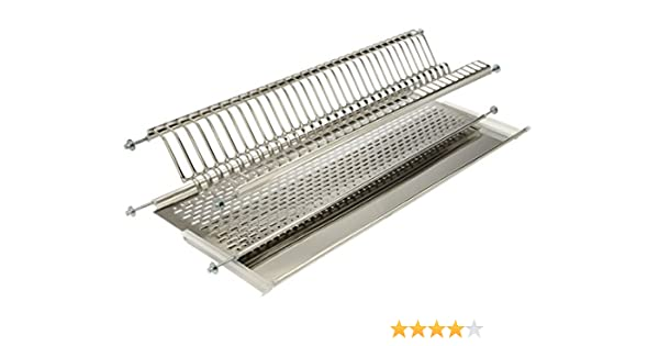Escurreplatos para armario colgante de hoja basculante Elletipi Bridge I850 Combi1 86 V01 15x25x90 cm acero inoxidable