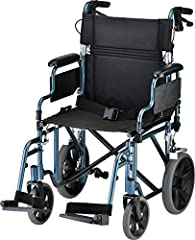 """Our NOVA 352B Transport Chair is designed to provide easy, lightweight patient transport. 12"""" rear wheels provide a more comfortable ride. The comfortable padded upholstery and arm pads are reinforced to prevent stretching or ripping."""