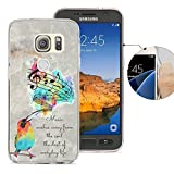 Samsung S7 Active Case, Galaxy S7 Active Case, Viwell Design Pattern Case, High Impact Protective Case for Samsung Galaxy S7 Active Case Singing birds
