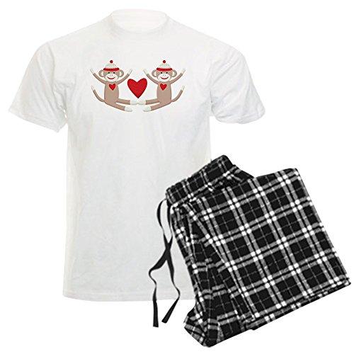 CafePress Couples Sock Monkey Men's Light Pajamas Unisex