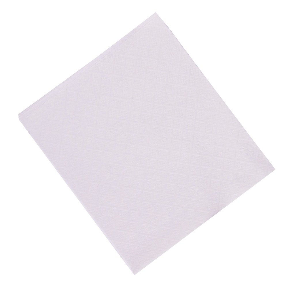 Perfect Stix Lunch Napkin White -1000 Napkins, 1/4 Fold 1-Ply, 0.1'' Height, 12'' Wide, 12'' Length (Pack of 1000)