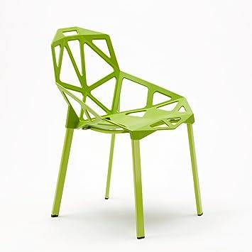 Juego de 4 sillas diseño geométrico