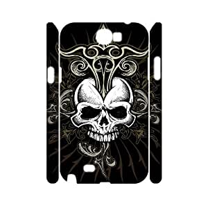 C-EUR Skull Customized Hard 3D Case For Samsung Galaxy Note 2 N7100