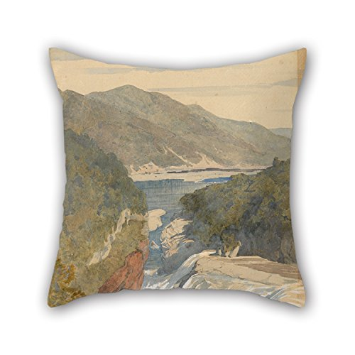 [Beautifulseason 16 X 16 Inches / 40 By 40 Cm Oil Painting J. C. Richmond - Te Reinga, Falls Of The Wairoa. Hawke's Bay Pillow Shams ,2 Sides Ornament And Gift To Living] (Minion Costume Falls Over)