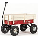 "Toby All Terrain Wagon Pull Cart Red - Europe's best selling pull along metal retro trolley. CE Certified for child safety. child kids garden festival trolley toys truck ""as seen on TV"""
