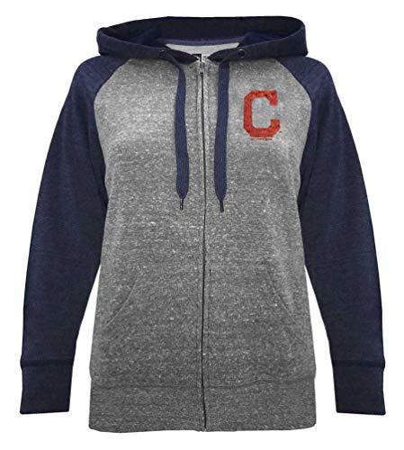 (New Era Cleveland Indians Women's MLB Double Tri-Blend Hooded Sweatshirt)