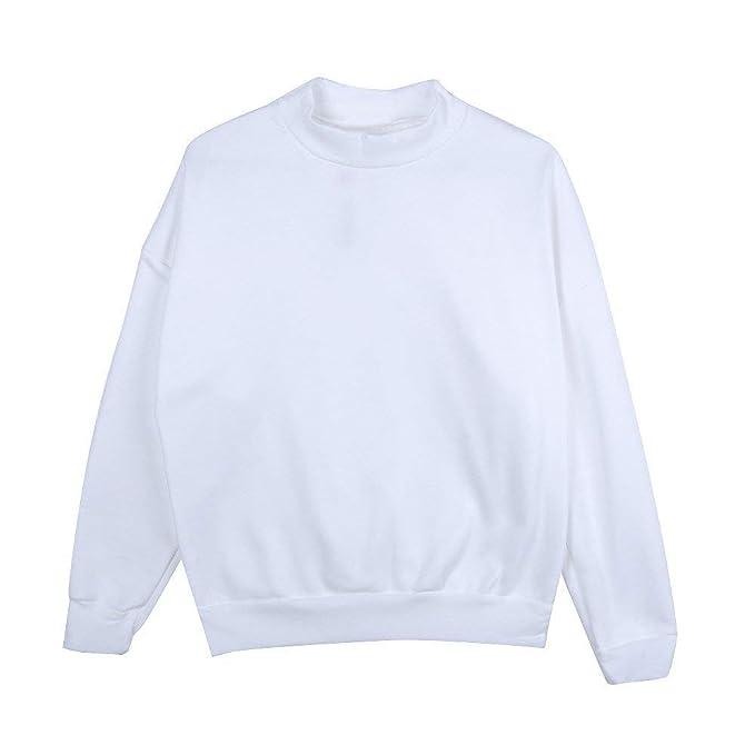 Sweatshirts Mujer Elegantes Moda Sudaderas Primavera Manga Larga Cuello Redondo Joven Color Sólido Anchos Casual Camisas Pullover Sport Shirt Streetwear ...