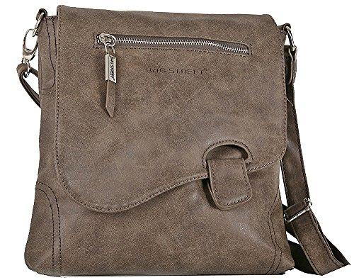 para Street mujer al coñac Bolso Bag pardo hombro marrón dSqgIgw