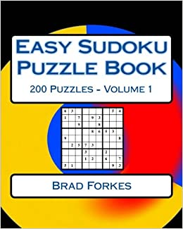 Easy Sudoku Puzzle Book Volume 1 Easy Sudoku Puzzles For Beginners