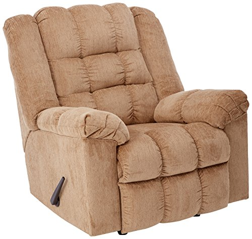 Ashley Furniture Signature Design - Ludden Rocker Recliner - 1 Pull Manual Reclining Sofa - Contemporary - Natural Sand