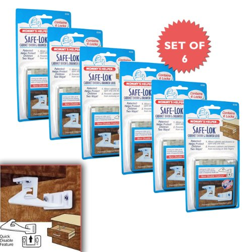 Mommy's Helper Safe-Lok for Drawers and Cabinets (Set of 6 packs of 6!) by Mommy's Helper
