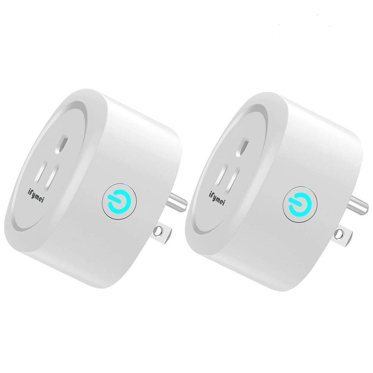 iFymei Smart Plug Mini Wi-Fi Enabled Outlet with Energy Monitoring Compatible with Amazon Alexa & Google Assistant Remote Control Your Devices from Anywhere (White-2)