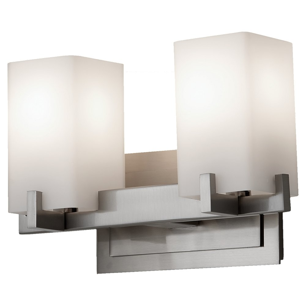 Feiss VSPN Riva Light Vanity Fixture Polished Nickel - 2 light bathroom vanity fixture