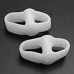 Cerkos Gel Toe Separators Straightener Bunion Protector Corrector for Improving Foot Strength and Balance (2 pcs)