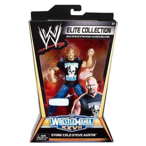 Stone Cold Steve Austin Mask - Mattel WWE Wrestling Exclusive Elite Collection Wrestle Mania 27 Action Figure Stone Cold Steve Austin