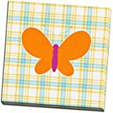 Plaid Butterfly I Printed on 20x20 Canvas Wall Art by Linda Woods