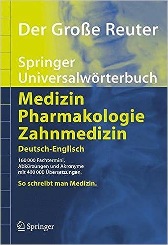 Der Große Reuter. Springer Universalwörterbuch Medizin ...