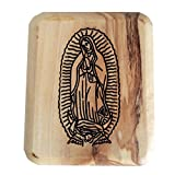 Our Lady of Guadalupe Olive Wood Rosary Box