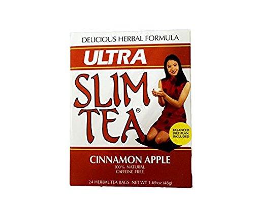 Ultra Slim Tea, Cinnamon Apple, Tea Bags, 24-Count Box (Pack of ()