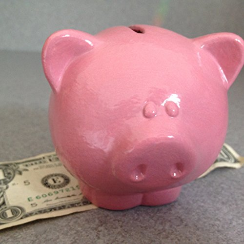 Piggy bank Ceramic Pink mini Money Bank Small pig by SueSueSueCrafts
