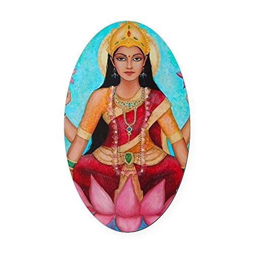 cafepress-lakshmi-original-art-oval-car-magnet-oval-car-magnet-euro-oval-magnetic-bumper-sticker