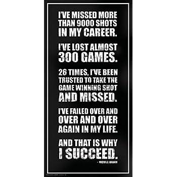 Culturenik Michael Jordan Success Inspirational Motivational Sports Basketball Icon Quote Print (Unframed 12x24 Poster)
