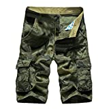 Photno Cargo Shorts, Men's Casual Loose Fit Straight Jogger Big and Tall Multi-Pocket Workout Pant