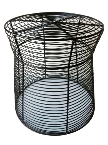 "Pangaea Home and Garden Metal Wire Side Table - Dimensions: 17.5""H x 16"" Diameter Bottom Ring x 14"" Diameter Top Ring Unique transparent wire design The stool provides a simple but attractive sitting option - patio-tables, patio-furniture, patio - 51fVVPj6xQL -"
