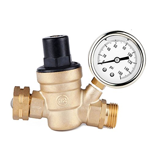 drillpro water pressure regulator valve brass lead free adjustable manual operation pressure. Black Bedroom Furniture Sets. Home Design Ideas