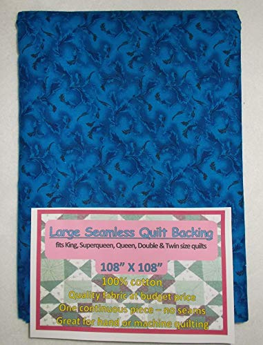 Quilt Backing, Large, Seamless, Dark Blue, C49639-A02