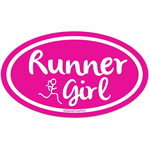 Gone For a Run Running Car Magnet | Runner ()