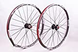 2016 newest MTB mountain bike wheel front 2 rear 5 sealed bearing hub disc wheelset wheels 26 27.5inch flat spokes (26inch black)