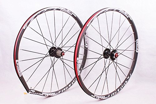2016 newest MTB mountain bike wheel front 2 rear 5 sealed bearing hub disc wheelset wheels 26 27.5inch flat spokes (26inch black) by Whool