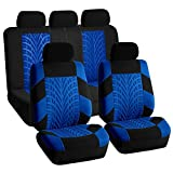 2013 nissan rogue car seat covers - FH Group FB071BLUE115 Car Seat Cover (Travel Master Airbag and Split Bench Compatible Blue)