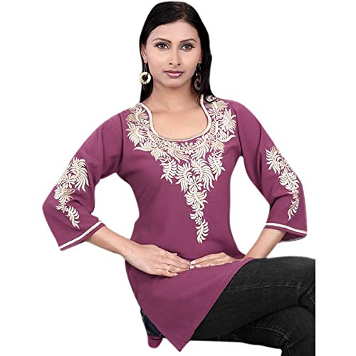 Dimensioni Delle Dress Donne Multicolore Designs Crepe Casual Tunica Petite Crimson 1545 Colori OFIHqwx