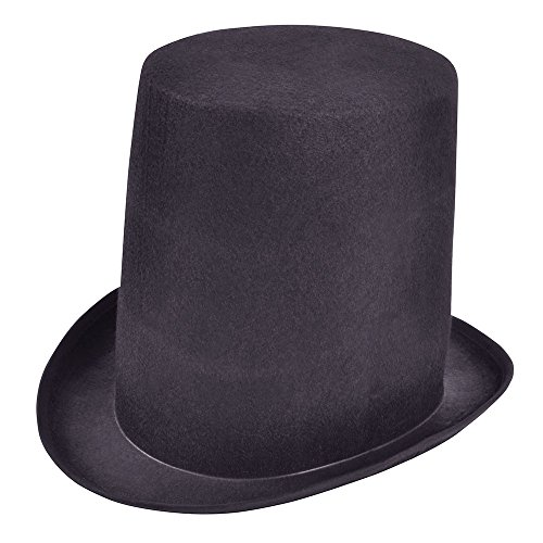 Bristol Novelty BH464 Stovepipe Top Hat, One