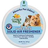 Citrus Magic Pet Odor Absorbing Solid Air Freshener Pure Linen - 8-Ounce